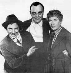 Al Boasberg (center) with Chico & Harpo Marx
